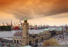 St. Pauli Landing Stages Stock Images