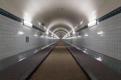 St Pauli Old Elbe Tunnel despu?s de la restauraci?n en Hamburgo, Alemania fotografía de archivo libre de regalías