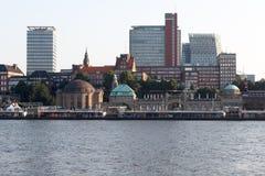 St Pauli Piers em Hamburgo foto de stock royalty free