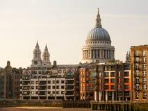 St Pauls大教堂教会伦敦英国 库存图片