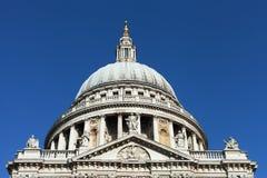 St. Pauls大教堂,伦敦。 库存图片