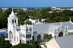 St. Pauls教会在Key West佛罗里达 库存照片