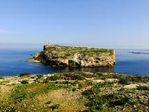 St Pauls海岛在马耳他 库存照片