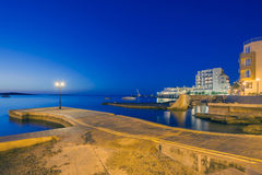 St Pauls海湾在晚上 图库摄影
