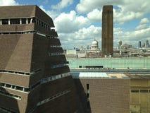 St Pauls Лондон Tate современный Стоковые Фото