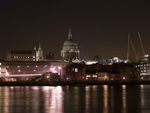 St Pauls across Thames 2 Royalty Free Stock Image