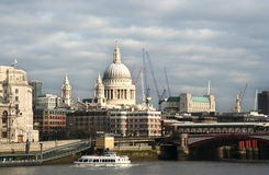 St. Pauls across the Thames Stock Photography