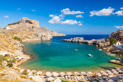 St Pauls Bay Lindos Royalty Free Stock Photo