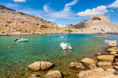 St Pauls Bay Lindos Stock Photos