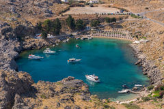 St. Pauls Bay Lindos Royalty Free Stock Photo