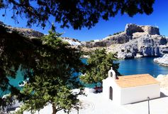 St Pauls Bay Lindos Rhodes Greece Royalty Free Stock Photos