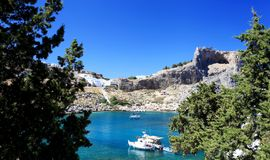 St Pauls Bay Lindos Rhodes Greece Royalty Free Stock Images