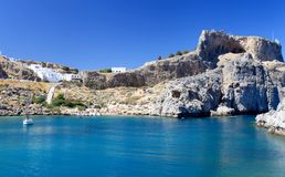 St Pauls Bay Lindos Rhodes Greece Royalty Free Stock Photography