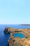 St Pauls Bay in Lindos in Rhodes Stock Photo