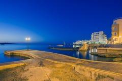St Pauls Bay na noite Fotografia de Stock