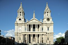 St Pauls Cathdral facade London England UK stock image