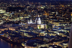 St Pauls Cathederal At Night Stock Photo