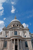 St Pauls Cathedral. A view of St Pauls Cathedral in London on a sunny day Stock Photo