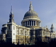 St pauls cathedral. Rising above office buildings london england uk Royalty Free Stock Image