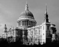 St pauls cathedral. Rising above office buildings london england uk Royalty Free Stock Photography