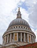 St Pauls Cathedral. Dome of St Pauls Cathedral in London Royalty Free Stock Photo