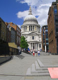 St Pauls Cathedral. From street Stock Image