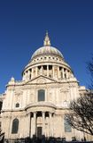 St. Pauls Cathedral. In winter sunlight Stock Images