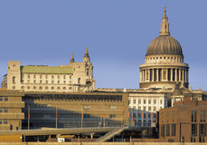St pauls cathedral. Rising above office buildings london england uk Royalty Free Stock Images