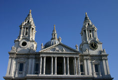 St Pauls Cathedral. Roofline of Saint Pauls Cathedral, London royalty free stock photography