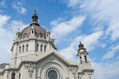 St. Pauls Cathedral. St. Paul's cathedral in downtown St. Paul Minnesota Royalty Free Stock Photography