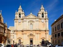 Mdina Cathedral, Malta. Royalty Free Stock Images