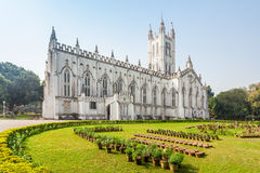 St Pauls Cathedral. Is a Anglican cathedral in Kolkata, West Bengal, India Stock Photography