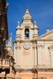Mdina Cathedral bell tower, Malta. Stock Photos