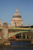 St Pauls cathedral and bridge Stock Photo