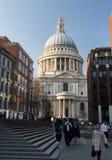St Pauls Cathedral Church London England at dusk Royalty Free Stock Photos