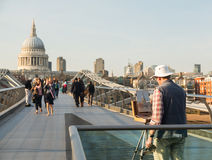 St Pauls Cathedral Church London Millenium Bridge Royalty Free Stock Images