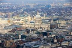 St Pauls Cathedral, ciudad de Londres Fotos de archivo libres de regalías
