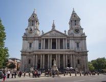 St Pauls Cathedral in de Stad van Londen stock foto