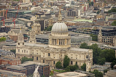 St Pauls Cathedral do estilhaço imagens de stock royalty free