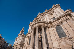 St Pauls Cathedral. The entrance of St Pauls Cathedral in London, England Royalty Free Stock Photo