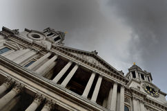 St Pauls Cathedral facade Royalty Free Stock Photos