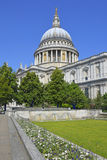 St Pauls Cathedral and gardens Royalty Free Stock Photography
