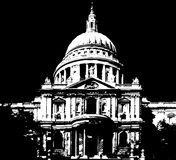 St Pauls Cathedral in London. A image showing St Pauls Cathedral in London, United Kingdom stock illustration