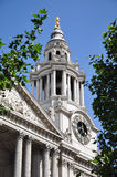 St. Pauls Cathedral in London England. Clock of St. Pauls Cathedral in London England Royalty Free Stock Photos