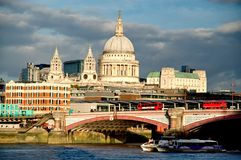 St Pauls Cathedral in London. Stock Photos