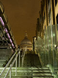St Pauls Cathedral London. Looking up at St Pauls cathedral from below a staircase Royalty Free Stock Photo