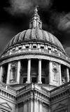 St Pauls Cathedral London (monochrome) Stock Photos