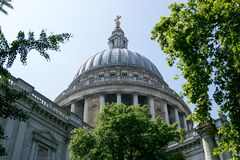 St Pauls Cathedral London lizenzfreie stockfotos