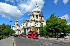 St Pauls Cathedral London Regno Unito Fotografia Stock Libera da Diritti
