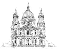 St. Pauls cathedral, London. Sketch collection Royalty Free Stock Photos